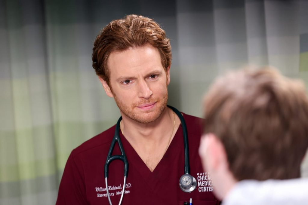 """CHICAGO MED -- """"To Lean In Or To Let Go"""" Episode 702 -- Pictured: Nick Gehlfuss as Dr. Will Halstead -- (Photo by: George Burns Jr/NBC)"""